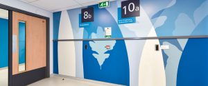Pinderfield Hosptial LIfecycles Wall Protection Panels Imagery CNC