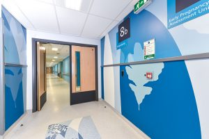 wall protection imagery pinderfields hospital