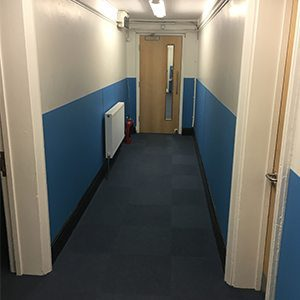 Corridor wall protection falmouth ex sheet cladding