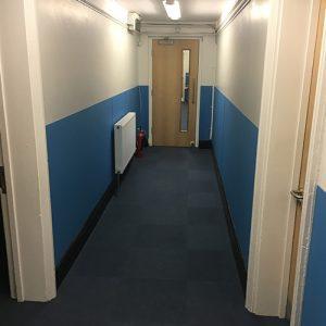 Corridor wall protection falmouth ex sheet cladding