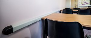 Quarrydale Academy RUb Rail Classroom Wall Protection Chairs
