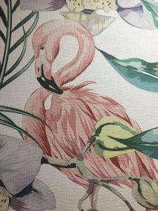 Flamingo digital print wall protection sheet