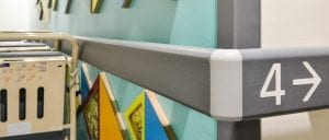 St. Lukes Hospital Horton Ward Guardian Handrail Dementia Signage