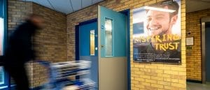 Stepping Hill Hospital door protection - featured