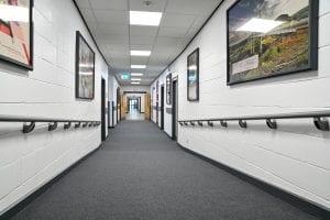 MacMillan Academy Corridor Guardian 50mm Handrail Mop Stick hand rail mopstick