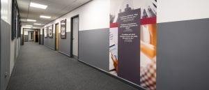 MacMillan Academy Corridor Digital Print Wall Sheet - featured